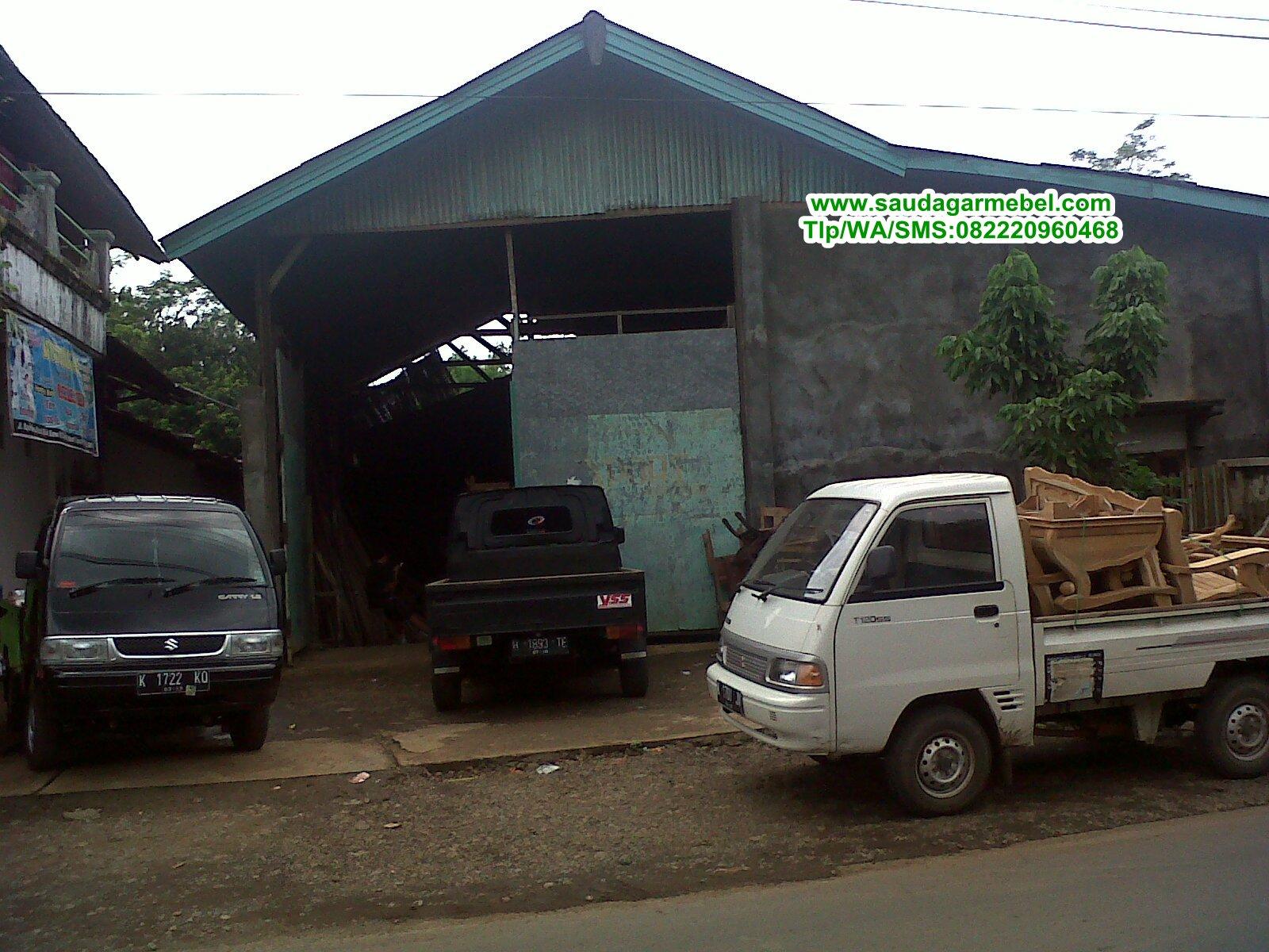 tempat produksi saudagar mebel, gudang saudagar mebel, gudan penyimpanan mebel jepara