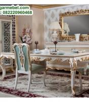 Set Meja Makan Mewah Jati Jepara, meja makan mewah, set meja makan jati, kursi makan jati, jual meja makan jati, harga set meja makan jati