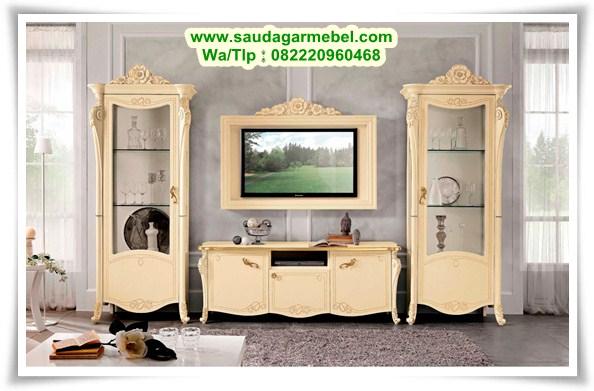 Lemari Tv Mewah Terbaru, Set Buffet Tv Terbaru, Lemari Pajangan, Lemari Hias Jati, Lemari Tv Mewah Jati