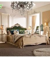 Set Tempat Tidur Klasik Eropa Terbaru 2018, Tempat Tidur Cat Duco, Set Kamar Klasik Modern, Set Tempat Tidur Jati, Kamar Set Ukir Jepara