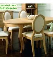 Meja Makan Oval Louis, Meja Makan 6 Kursi, Meja Makan, Meja Makan jati 6 kursi, meja makan klasik, meja makan klasik modern, meja makan jati jepara, set meja makan jati, harga meja makan, meja makan duco putih, meja makan ukiran