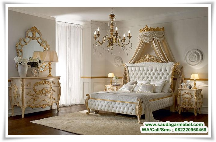 Set kamat tidur mewah romeo jepara, set tempat tidur, kamar set jati, set kamar terbaru, harga set kamar mewah, model set kamar modern, tempat tidur, kamar set jati