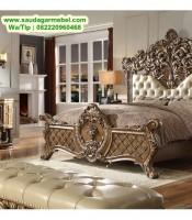 Set Tempat Tidur Ukiran Klasik Modern, Set Tempat Tidur Klasik, Tempat Tidur, Tempat Tidur Jati, Kamar Set Jati Jepara
