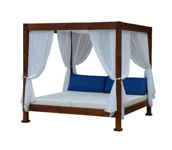 Outdoor Bed For Sleeping, Modern Oudoor Bed, Minimalis Outdoor Bed, Outdoor Bed Teak Wood, Minimalis Exterior For Suwiming