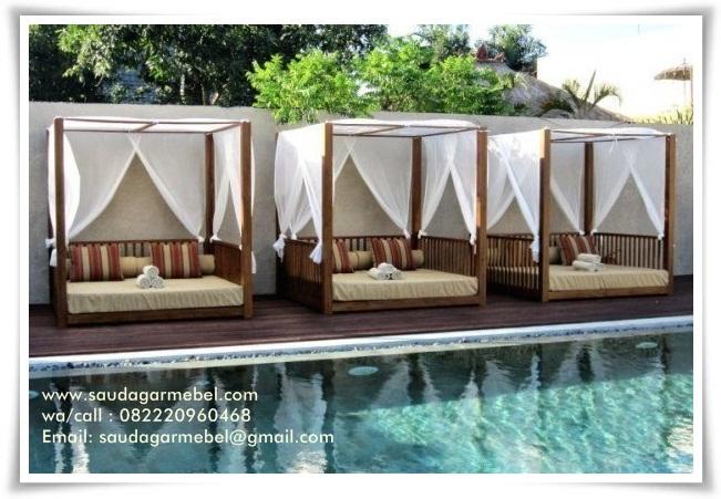 Outdoor Bed Model Lombok, Outdoor Bed, Gazebo Kolam Renang, Outdoor Bed Minimalis, Jual Tempat Tidur Taman, Jual Ttempat Tidur Pingir Kolam, Outdoor Bed Modern