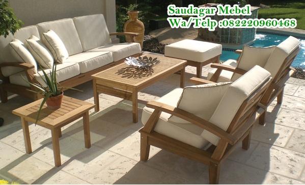 Teak Sofa Vaganza Outdoor , sofa taman, sofa ruangan kecil sofa villa, sofa hotel, mebel jepara, furniture minimalis modern