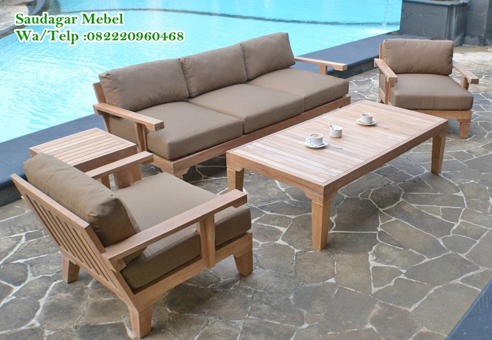 Jual Sofa Taman Model Minimalis Terbaru, sofa suwiming pool, sofa kolam renang, jual sofa pantai, teak becah, mebel jepara, furniture jepara, desain kursi taman, saudagar mebel
