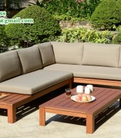 Lounge Set Sofa Teak Wood, garden furnture, minimalis design,