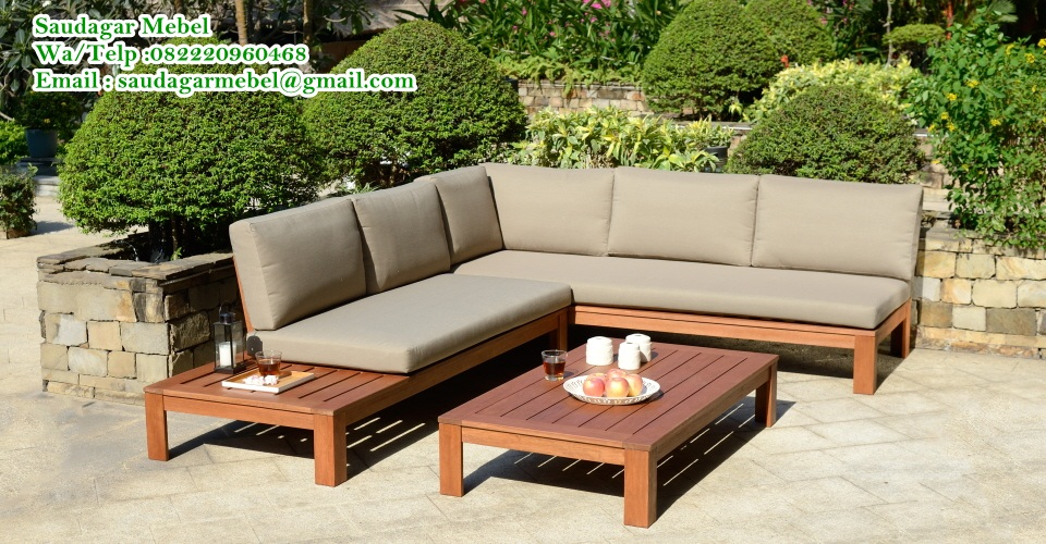 Lounge Set Sofa Teak Wood, garden furnture, minimalis design,