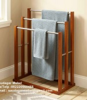 Teak Towl Rak Furniture Minimalis, furniture hotel, towl rak, rak towl,