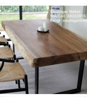 Black Walnut Suar Wood Indonesia, dining table, sets dining table, dark walnut dining table, trembesi wood indonesia, suar dining table, outdoor bed, teak wood, indonesia teak garden, teak garden, teak furniture garden, teak patio