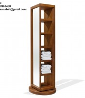 Freestanding-Rack-Bath-Towel-Teak-Wood