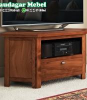 Bufet TV Jati Minimalis Mewah Terbaru