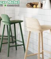 Kursi Bar Minimalis Modern Kayu Jati Model Terbaru