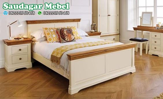 Set Kamar Tidur Minimalis Warna Putih