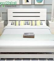 Tempat Tidur Minimalis Modern Warna Putih Terbaru