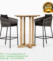 Teak Patio Outdoor Bar Stools
