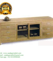 Indoor Teak Patio Buffet Cabinet