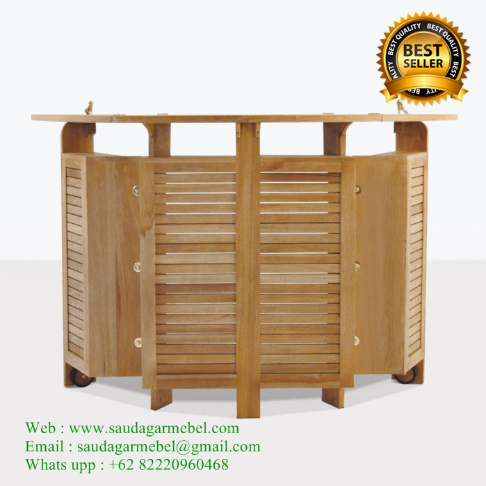 Outdoor Bar Table Teak Patio