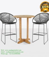 Patio Bar Stools Rattan Sintetis