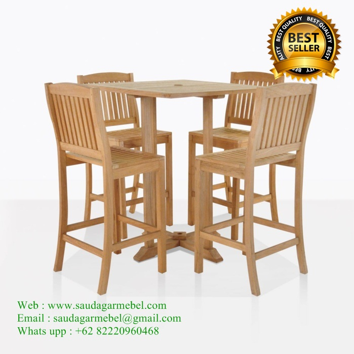Tropis Teak Patio Bar Stools