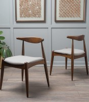Dining Chairs Walnut Finish