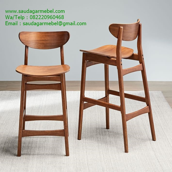 Teak Bar Stools Solid Wood