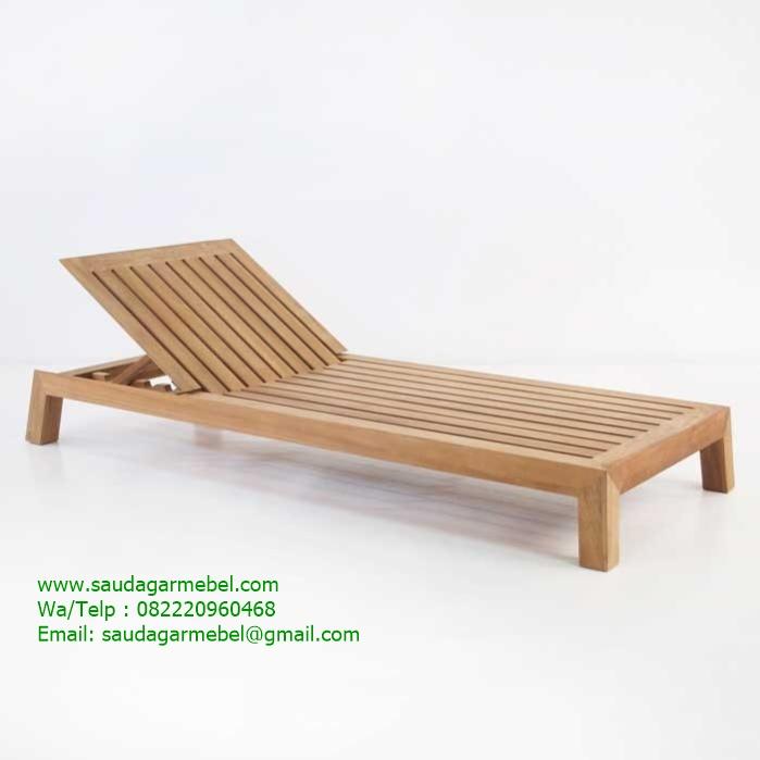 Amalfi Teak Sun Lounger Java Wooden