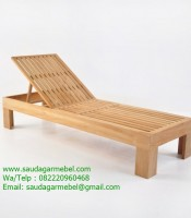 Palm Beach Sun Lounger Java Wood