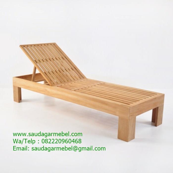 Palm Beach Sun Lounger Java Wood