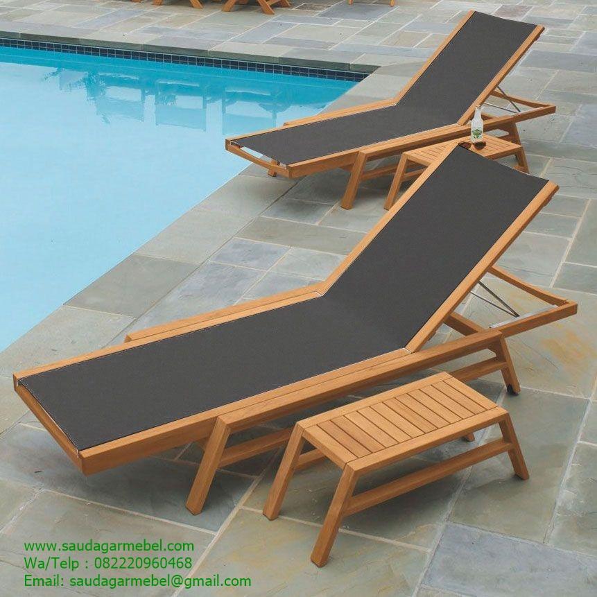 Sun Lounger Tango Teak Pool Balines