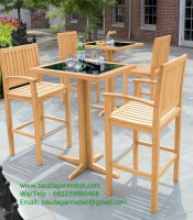 Teak Bar Chair With Arms Balines