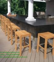 Teak Bar Chairs Side Java Furniture