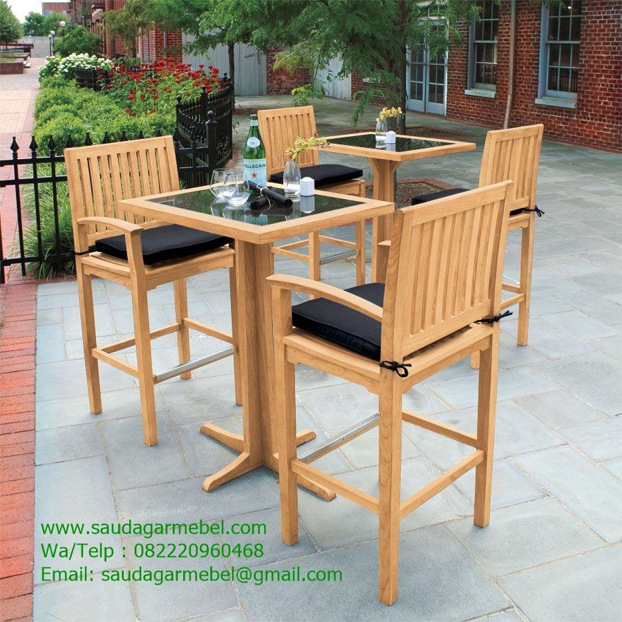 Teak Outdoor Bar Chair Patio